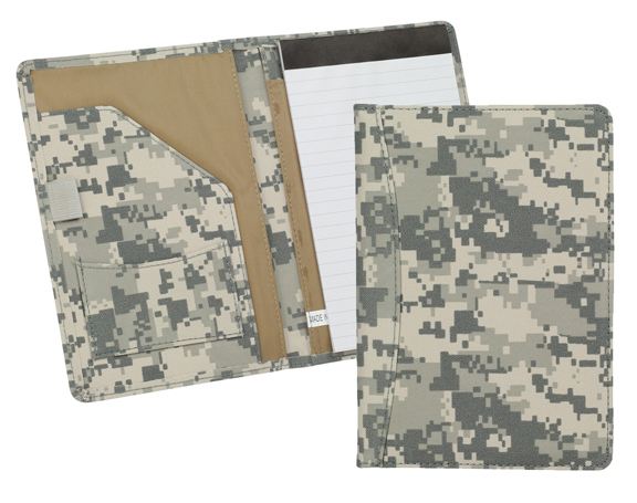 JR SIZE 600D POLYESTER DIGITAL CAMO PADFOLIO