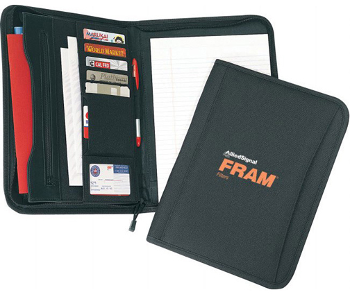 POLY ZIPPERED PADFOLIO