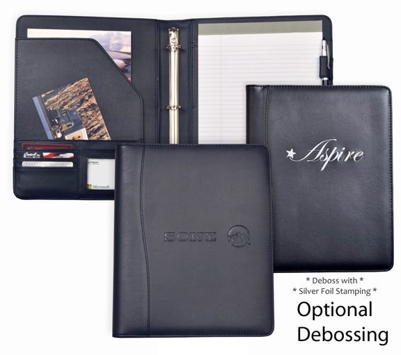 WRITING PAD WITH 3 RING BINDER