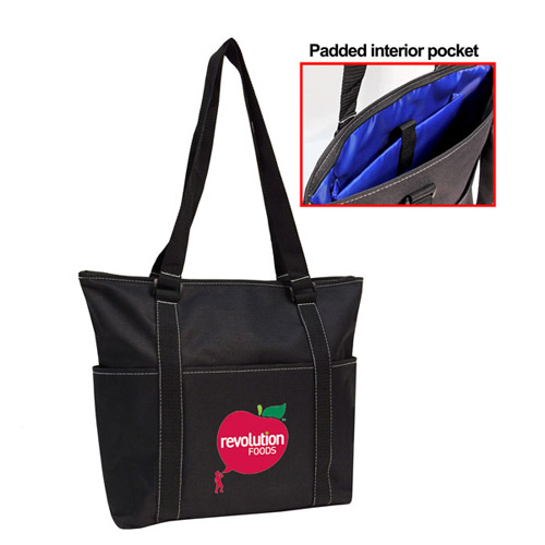Padded Tablet Zipper Tote
