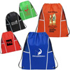 Non Woven Drawstring Backpack with Mesh Panels