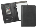 JR SIZE LEATHERETTE PADFOLIO WITH CALCULATOR