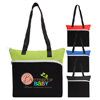 Large Front Zipper Tote